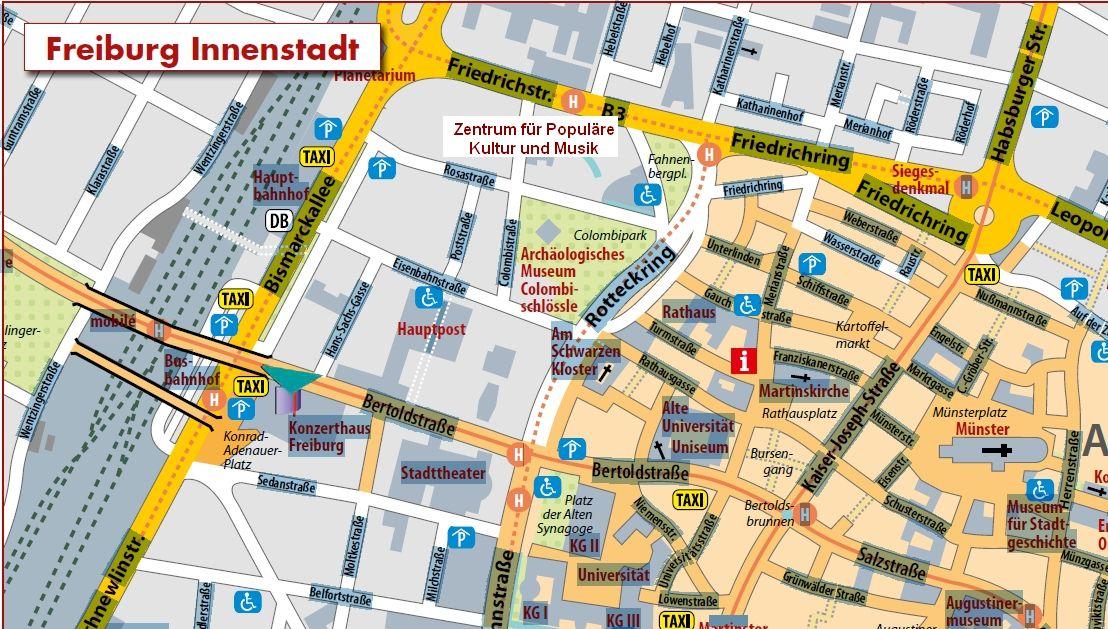 Innenstadtplan Freiburg 2014
